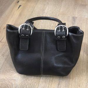 Tignanello dark brown leather shoulder bag